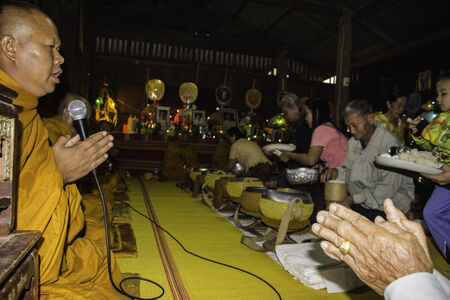 mingle: Ubonratchathani,THAILAND Jan 11 :Religious ceremonies and ordination of men to a monk of Thailand Isaan.Thailand on Jan 11, 2015