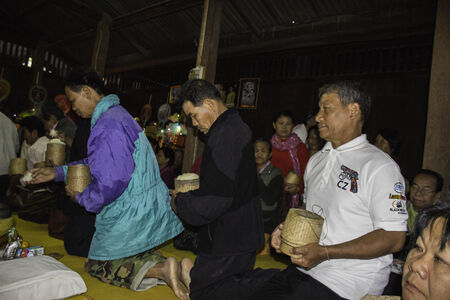ordination: Ubonratchathani,THAILAND Jan 11 :Religious ceremonies and ordination of men to a monk of Thailand Isaan.Thailand on Jan 11, 2015