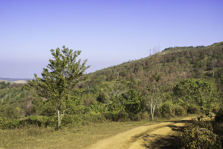 loei: Phulomlo,THAILAND Jan 27 2015:Views of the mountains and mountain roads. Loei,Thailand.