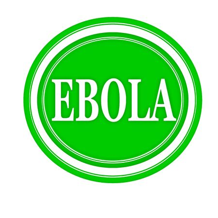 h1n1: EBOLA white stamp text on green