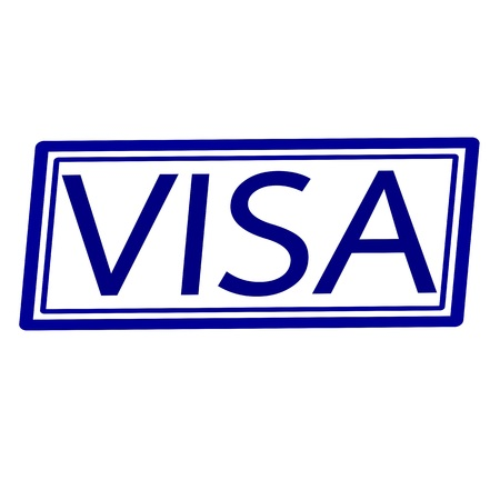 confirmed verification: VISA Blue stamp text on white.