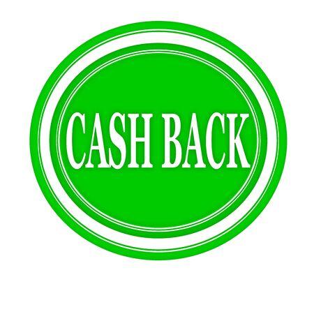 optimum: Cash back white stamp text on green Stock Photo