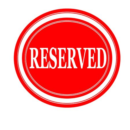 retain: Reserved white stamp text on red