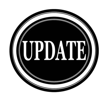 amend: Update white stamp text on black Stock Photo