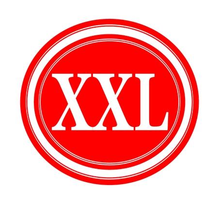 xl: XXL white stamp text on red
