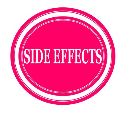 adverse: Side effect white stamp text on pink Stock Photo