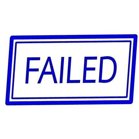 failed: FAILED blue stamp text on white Stock Photo