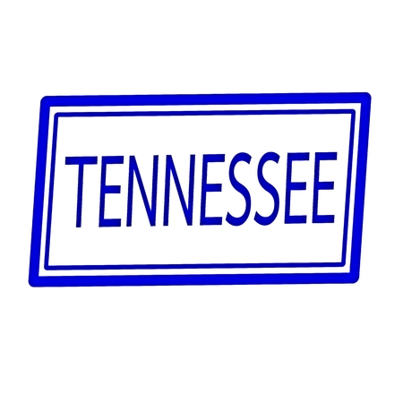 Tennessee blue stamp text on white photo