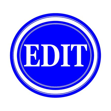 EDIT white stamp text on blue
