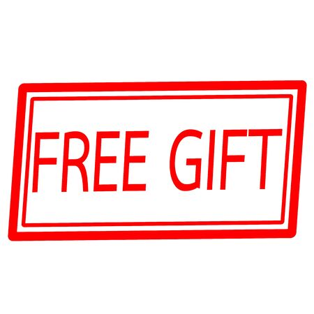 free gift: Free gift red stamp text on white