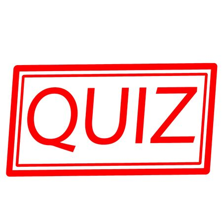 inquest: QUIZ red stamp text on white Stock Photo