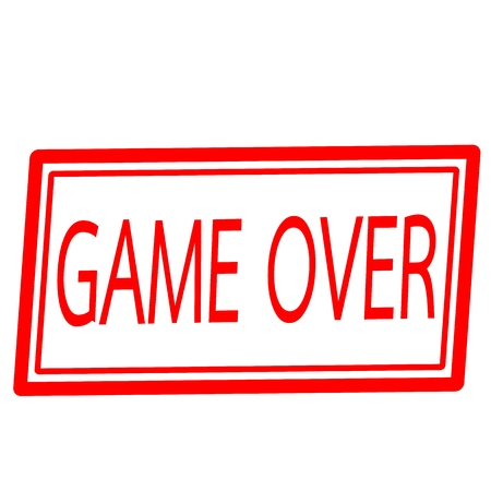 Game over red stamp text on white photo