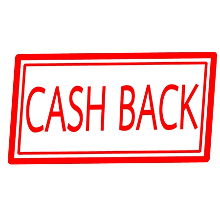 cash back: Cash back red stamp text on white Stock Photo