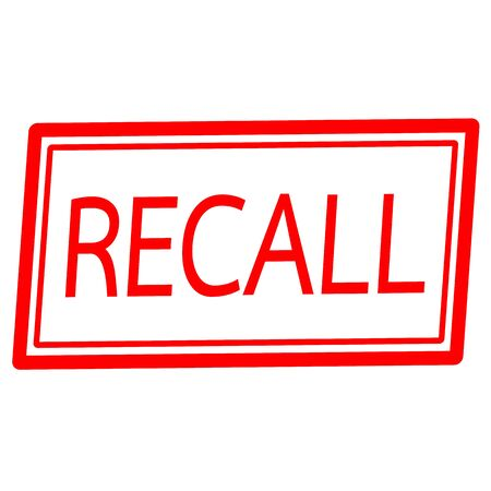 recall: Recall red stamp text on white