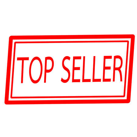 top seller: Top seller red stamp text on white