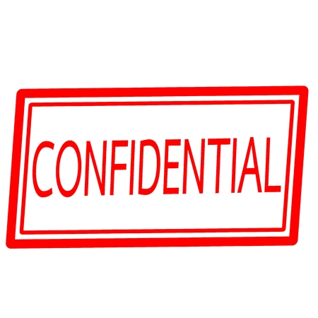 Confidential red stamp text on white