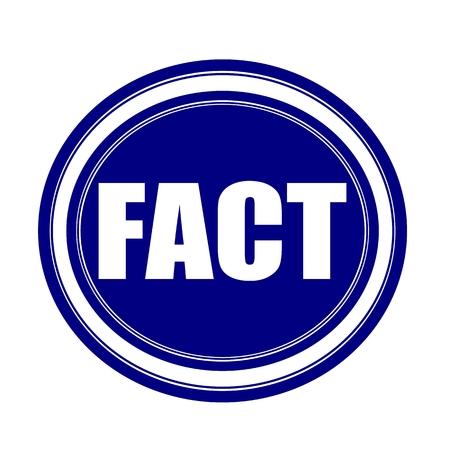 fact: FACT white stamp text on blueblack