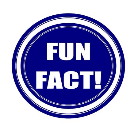 fact: Fun fact white stamp text on blueblack
