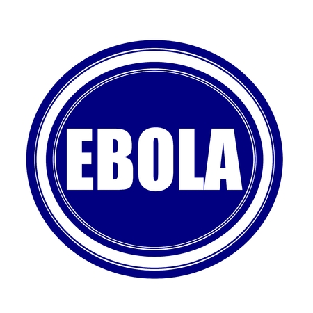 h1n1 vaccination: EBOLA white stamp text on blueblack