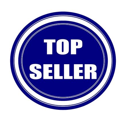 top seller: Top seller white stamp text on blueblack
