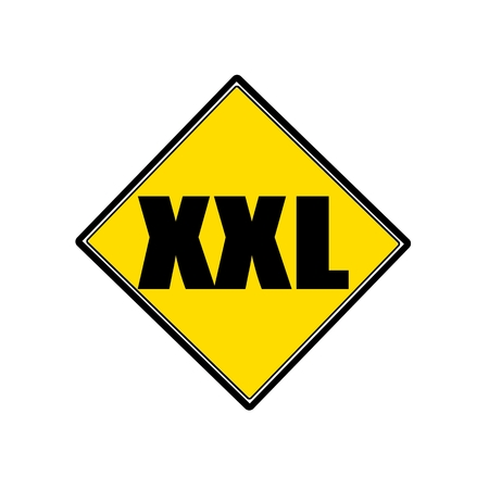 xxl: XXL black stamp text on yellow