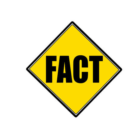 fact: FACT black stamp text on yellow Stock Photo