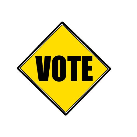 voting rights: Vote black stamp text on yellow