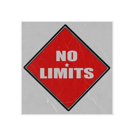 restrictions: No limits white stamp text on red background old