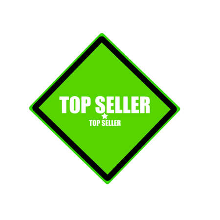 top seller: Top seller white stamp text on green background