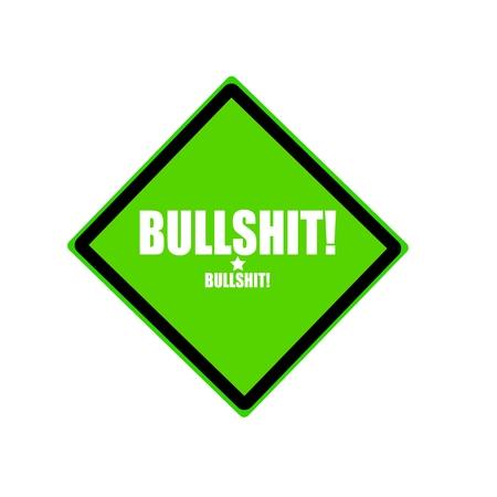 nonsense: Bullshit white stamp text on green background Stock Photo