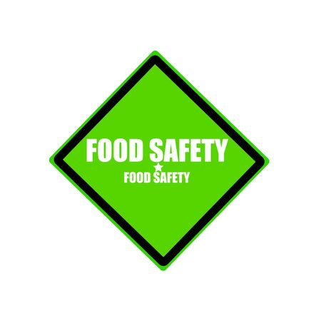 tommy: Food safety white stamp text on green background