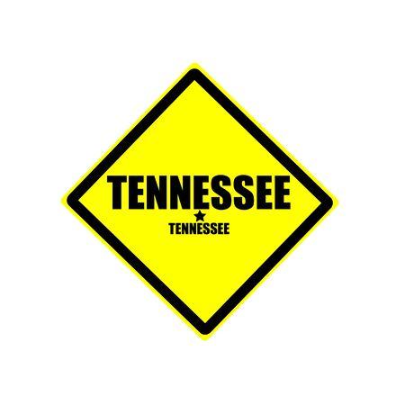 tennesse: Tennessee sello texto negro sobre fondo amarillo Foto de archivo