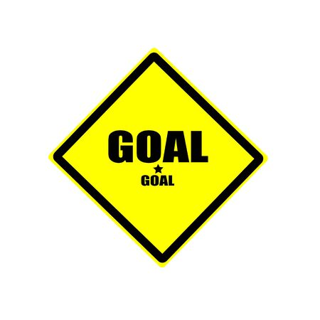 footy: GOAL black stamp text on yellow background Stock Photo