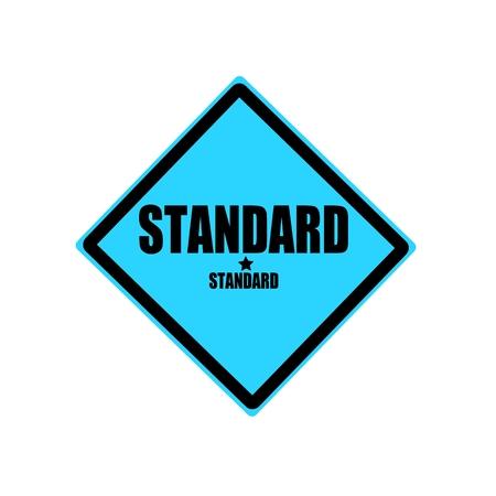 Standard black stamp text on blue background