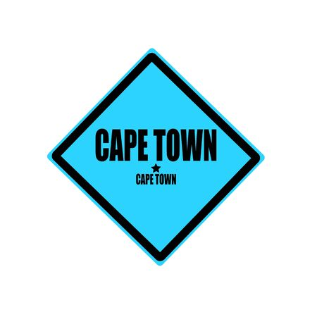 Cape town black stamp text on blue background photo