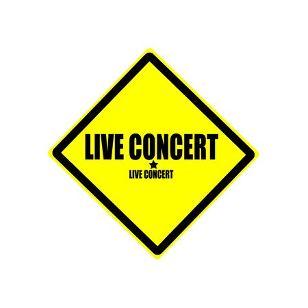 currently: Live concert black stamp text on yellow background Stock Photo