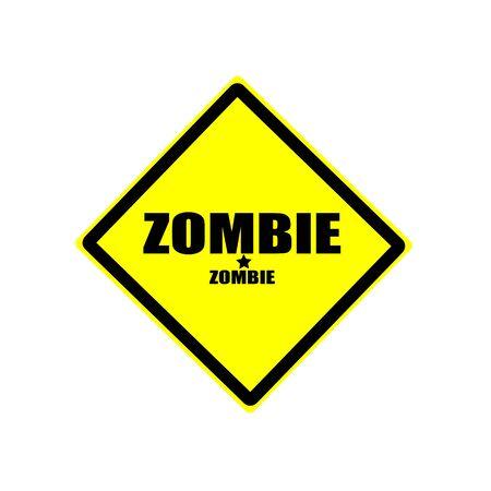 horrific: Zombie  black stamp text on yellow background Stock Photo