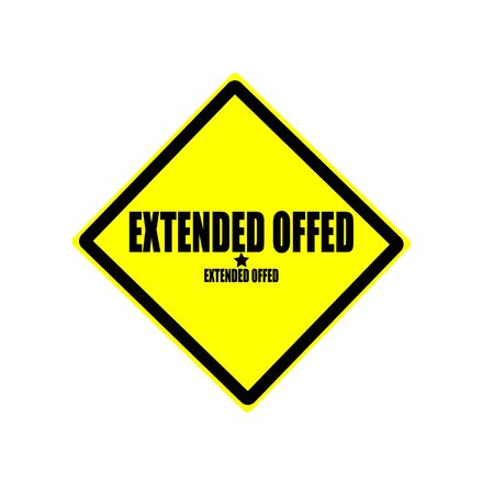 widespread: Extended offer  black stamp text on yellow background