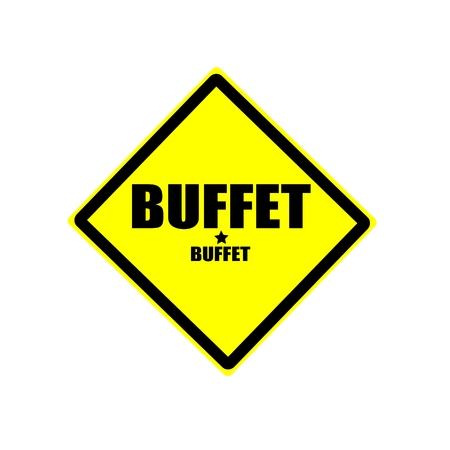 buffet: Buffet  black stamp text on yellow background