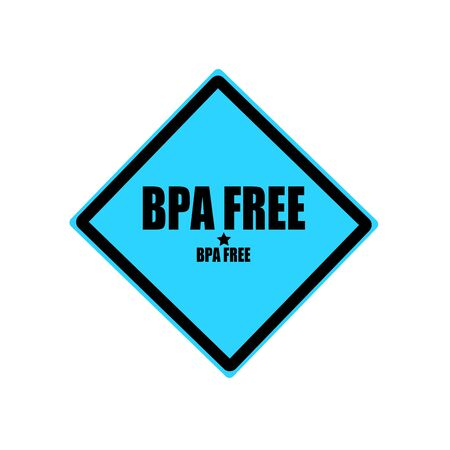 bpa: BPA FREE black stamp text on blue background Stock Photo