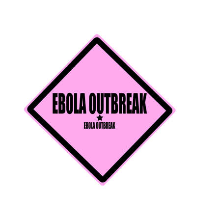 outbreak: Ebola outbreak black stamp text on pink background