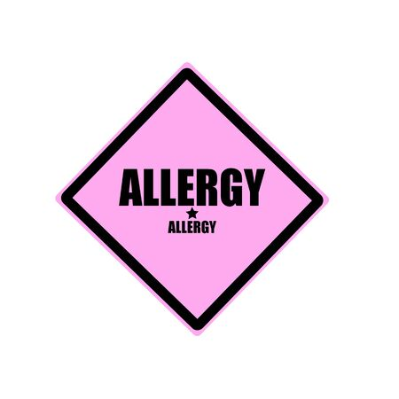 pink and black: Allergy black stamp text on pink background Stock Photo