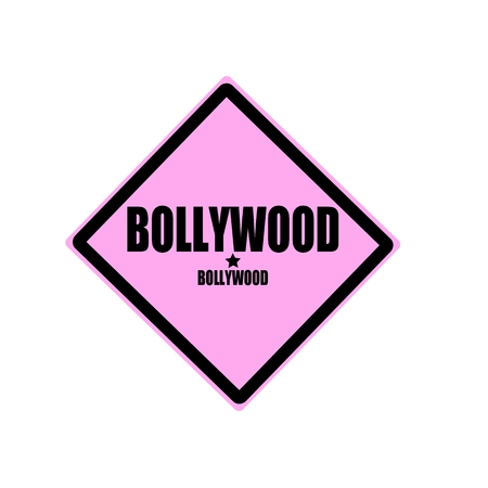 bollywood: Bollywood black stamp text on pink background Stock Photo