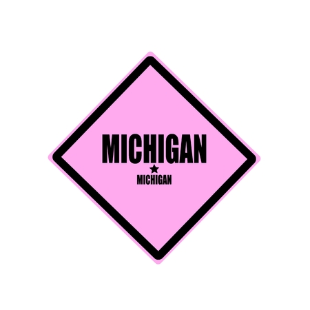 Michigan black stamp text on pink background photo