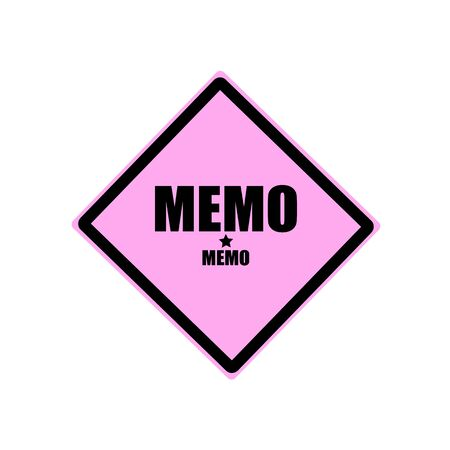 told: Memo black stamp text on pink background Stock Photo