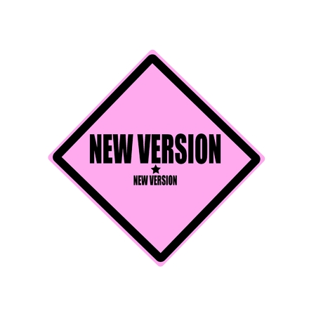 revised: New version black stamp text on pink background