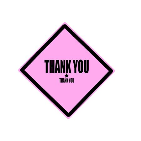 thanks a lot: Thank you black stamp text on pink background