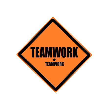 enlist: Teamwork black stamp text on orange background