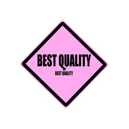 pink and black: Best quality black stamp text on pink background Stock Photo