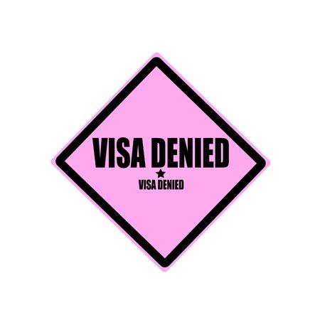 confirmed verification: Visa denied black stamp text on pink background